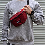 Чоловіча сумка бананка Eastpak Springer бордо. Живе фото (Репліка ААА+), фото 2