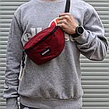 Мужская сумка бананка Eastpak Springer бордо. Живое фото (Реплика ААА+), фото 2