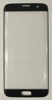 Скло модуля для Samsung S7 edge / G935 Black, фото 2