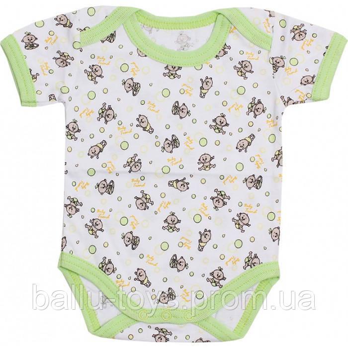 Бодик с коротким рукавом для новорожденных Zoo (0-18 мес)
