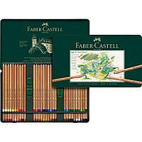 Набор пастельных карандашей Pitt 60 штук в металлическом пенале Faber-Castell
