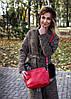 Шкіряна сумка модель 21 червоний флотар