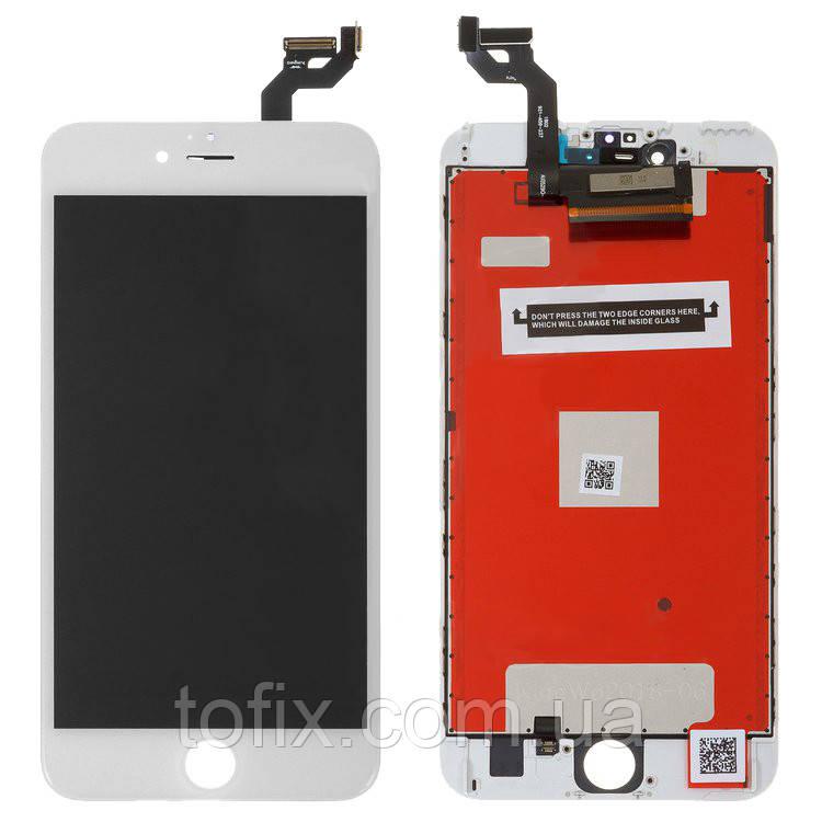 Дисплей для iPhone 6S Plus, модуль в сборе (экран и сенсор), с рамкой, белый