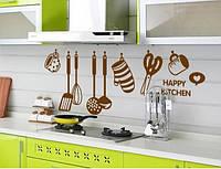 Интерьерная декоративная виниловая наклейка на стену для кухни AY6017