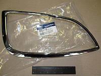 Рамка фары противотуманной левой Hyundai IX35 (хромированная окантовка) (пр-во Mobis)