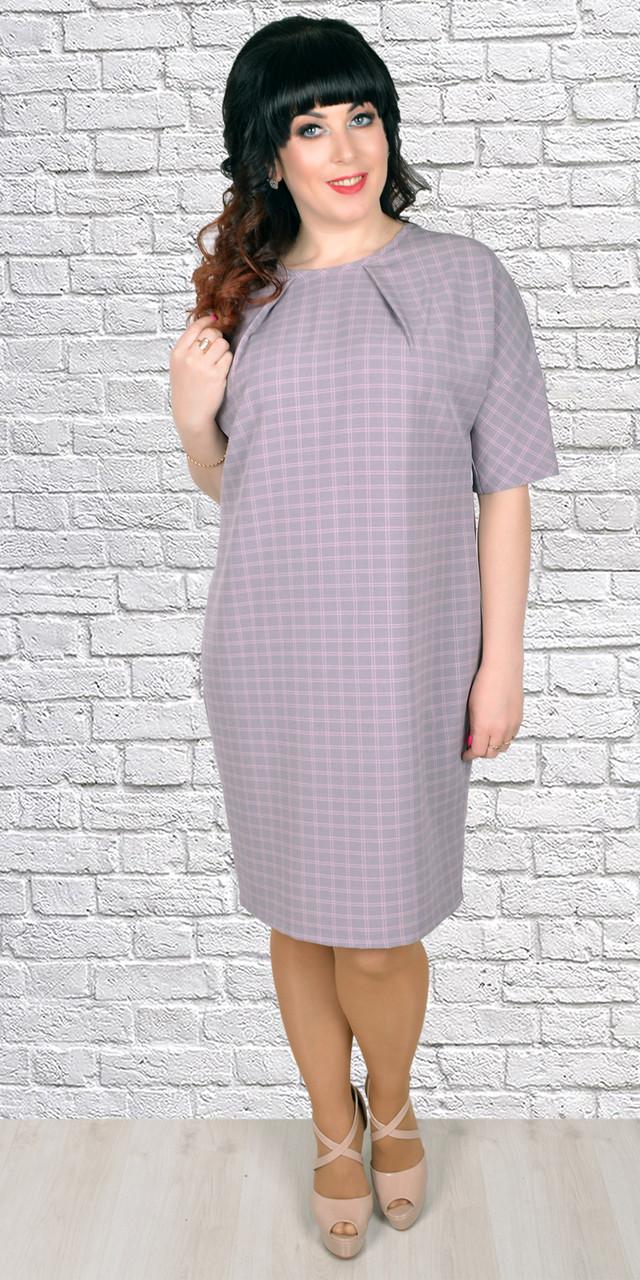 Батальное платье свободного кроя