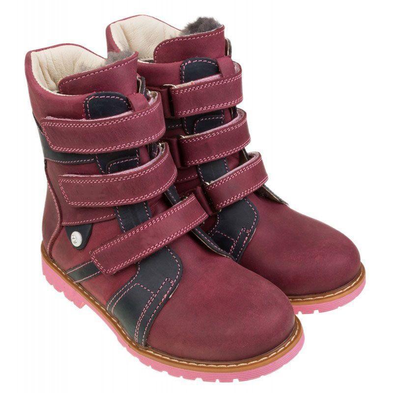 Зимние ортопедические ботинки для девочек с супинатором 308VB, размер 20