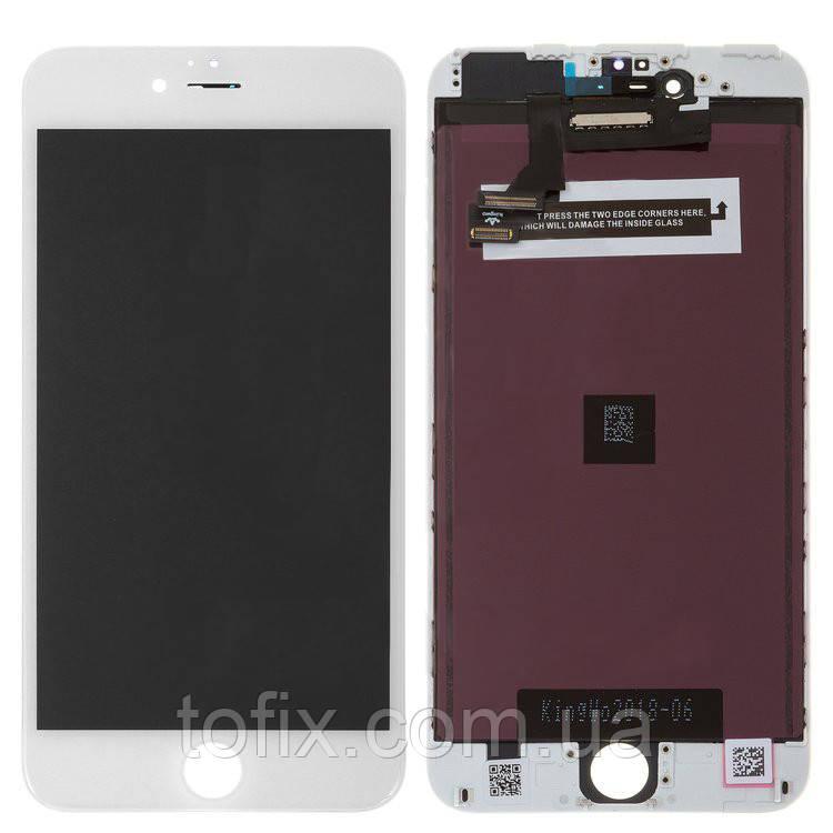Дисплейный модуль (экран и сенсор) для iPhone 6 Plus, белый, HC