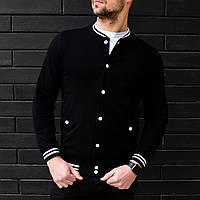 Куртка мужская бомбер / летняя / весенняя / черный