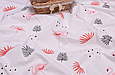 Сатин (хлопковая ткань) фламинго розовый средний, фото 2