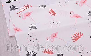 Сатин (хлопковая ткань) фламинго розовый средний