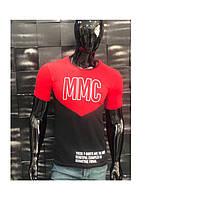Мужская футболка 44-50 размера белого, черного, синего, красного, бирюзового цвета с надписью оптом