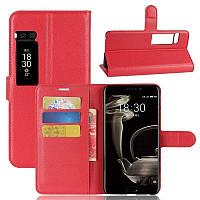 Чехол-книжка Litchie Wallet для Meizu Pro 7 Plus Красный