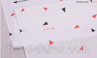 Сатин (хлопковая ткань) треугольник (компаньон к среднему фламинго)