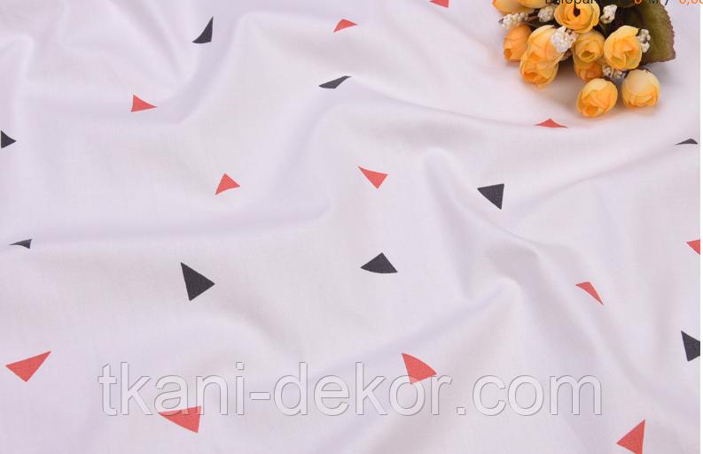 Сатин (бавовняна тканина) трикутник (компаньйон до середнього фламінго)