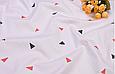 Сатин (хлопковая ткань) треугольник (компаньон к среднему фламинго), фото 2