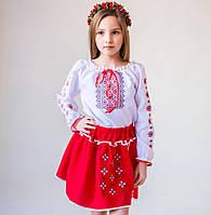 """Український костюм """"Орнамент"""" (біло-червоний)"""