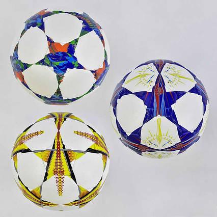 Мяч футбольный А 24779 / 779-248 (60) PU, 400-420 грамм, баллон с ниткой, 3 цвета