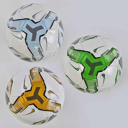 Мяч футбольный А 24787 / 779-625 (60) мягкий PVC, 3 цвета, 310-330 грамм, резиновый балон, размер №5