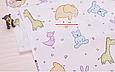 Сатин (хлопковая ткань) зефирные звери, фото 2
