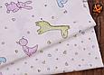 Сатин (хлопковая ткань) зефирные звери, фото 3