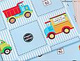 Сатин (бавовняна тканина) дорожние знаки на блакитному, фото 3