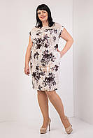 Красиве жіноче плаття з трояндами сіре