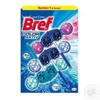 Блок туалетной Bref Сила цветной воды микс 3*50г/уп