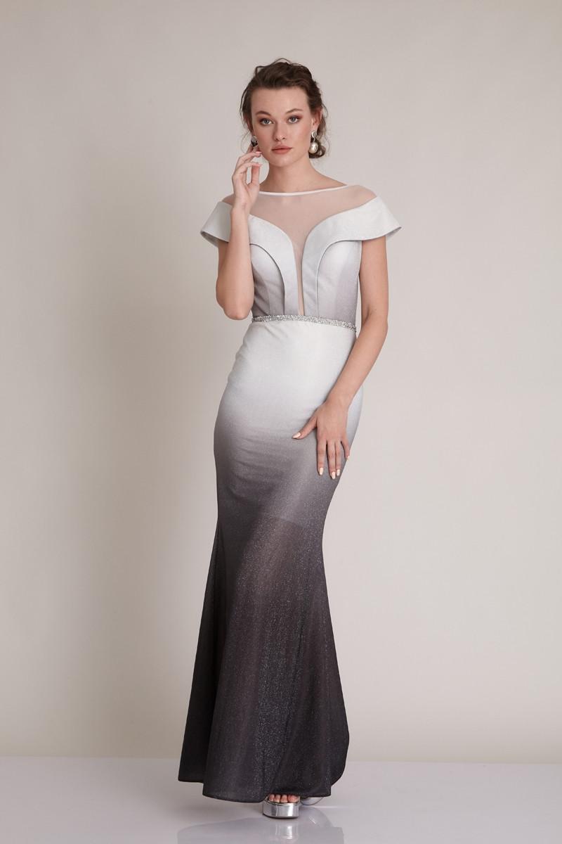 Платье вечернее с люрексом Градиент