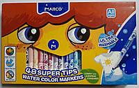 Фломастеры стираемые MARCO 48 цветов 1630-48