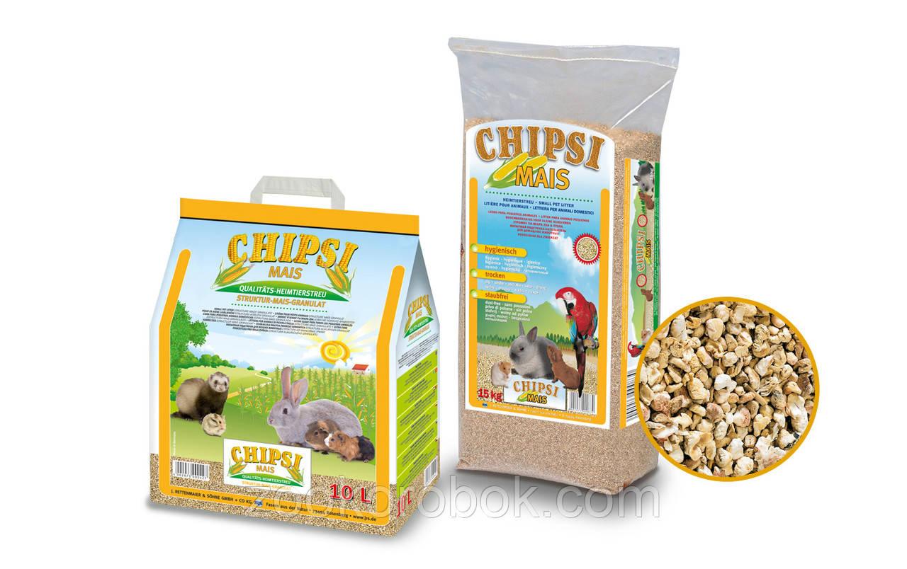 Опилки Chipsi mais, кукурузные, 10л