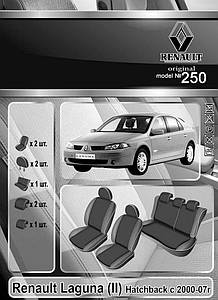 Чехлы на сидения Renault Laguna IІ (Hatch) 2000-07 Elegant Classic