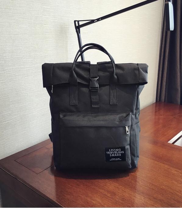 Стильный рюкзак женский из ткани черный опт