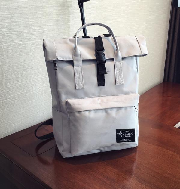 Рюкзак женский тканевый городской серый опт