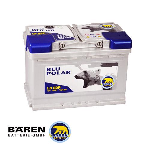 АКБ BAREN 6СТ - 85Аз 760А R+ BLU POLAR L4B85P 315*175*175