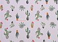 Сатин (бавовняна тканина) кактуси в горщиках, фото 2