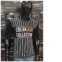Мужская футболка 44-50 размера белого, черного, синего, красного, хаки цвета с надписью оптом
