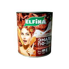 Алкидная эмаль для пола Elfina Пф-266 Желто-коричневый, 0.9кг