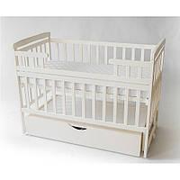 Детская кровать-трансформер с ящиком ТМ Дитячий сон, ваниль