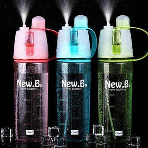 Спортивная бутылка для воды с распылителем New B, бутылка для воды, спортивная бутылка для воды (выбор цвета)