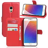 Чехол-книжка Litchie Wallet для Meizu Pro 6 Красный