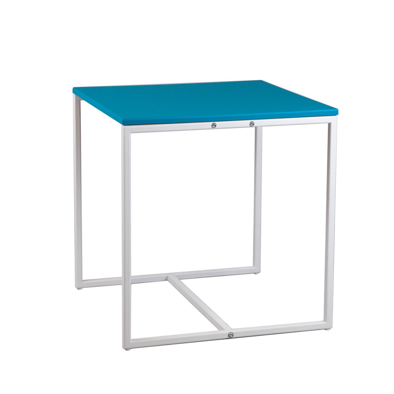 Commus стіл журнальний Куб 400 ментол/білий