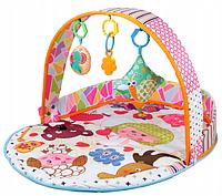Детский развивающий коврик 2в1 с цветными шариками