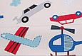 Сатин (хлопковая ткань) на беже машинки, самолеты, вертолеты, фото 3