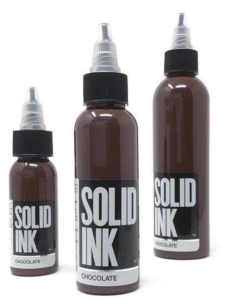 Тату краска SOLID INK Chocolate 1 унц (30мл)