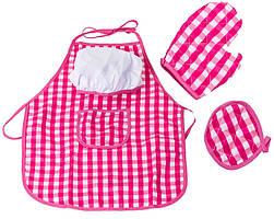 Детский фартук для кухни + перчатки и прихватка Doris