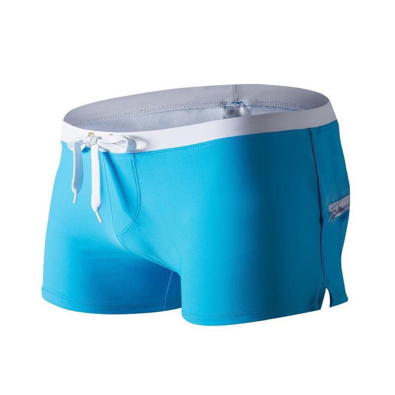 Пляжные мужские шорты боксеры голубого цвета опт