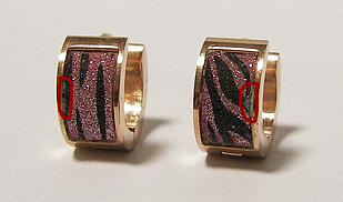 Двухцветные серьги из ювелирной стали Spikes