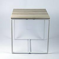 Стол журнальный Куб 450 Дуб пепельный / белый (Cub 450 pepel-white), фото 1