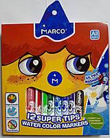 Фломастеры стираемые MARCO 12 цветов 1630-12